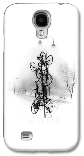 Bicycle Lamppost In Winter Galaxy S4 Case