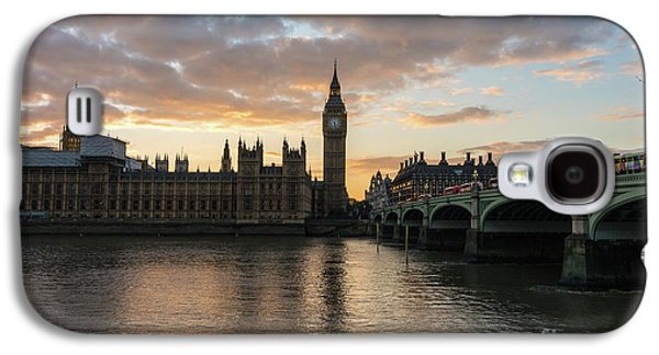 Big Ben London Sunset Galaxy S4 Case by Mike Reid