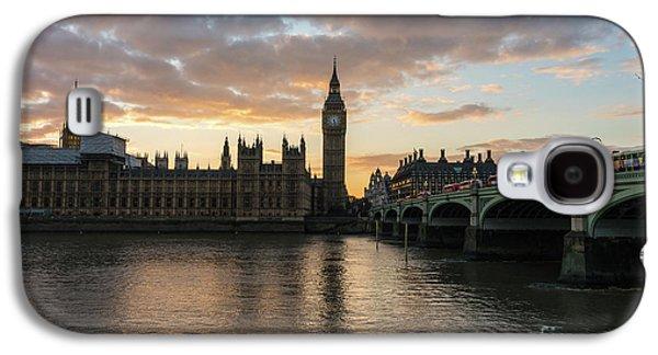Big Ben London Sunset Galaxy S4 Case by Mike Reid