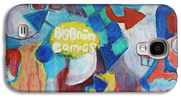 Big Brain Painting Galaxy S4 Case by Susan Stone