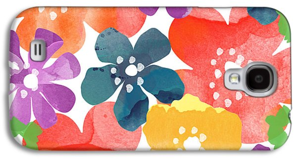 Daisy Galaxy S4 Case - Big Bright Flowers by Linda Woods