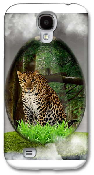 Big Cat Leopard Art Galaxy S4 Case
