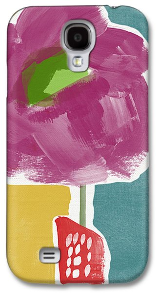 Big Purple Flower In A Small Vase- Art By Linda Woods Galaxy S4 Case