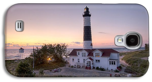 Big Sable Point Lighthouse At Sunset Galaxy S4 Case by Adam Romanowicz
