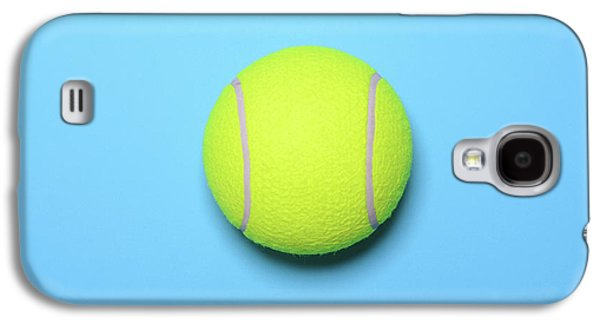 Big Tennis Ball On Blue Background - Trendy Minimal Design Top V Galaxy S4 Case