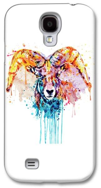 Bighorn Sheep Portrait Galaxy S4 Case by Marian Voicu