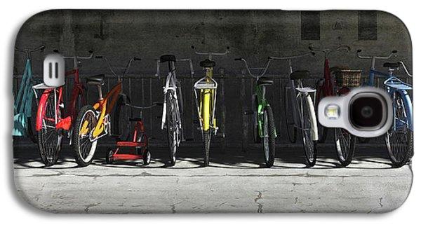 Bicycle Galaxy S4 Case - Bike Rack by Cynthia Decker