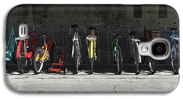 Transportation Galaxy S4 Case - Bike Rack by Cynthia Decker