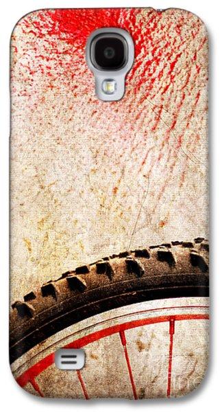 Bike Wheel Red Spray Galaxy S4 Case