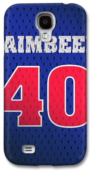 Bill Laimbeer Detroit Pistons Number 40 Retro Vintage Jersey Closeup Graphic Design Galaxy S4 Case