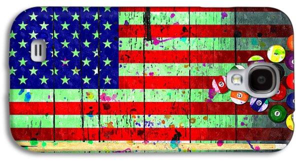 Billiard American Flag Grunge Galaxy S4 Case