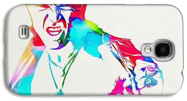 Billy Idol Watercolor Paint Galaxy S4 Case
