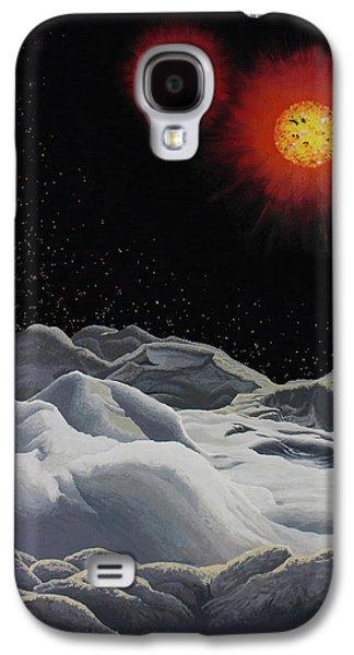 Binary Red Dwarf Stars 2 Galaxy S4 Case by Kurt Kaf