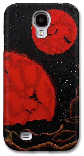 Binary Red Dwarf Stars Galaxy S4 Case by Kurt Kaf