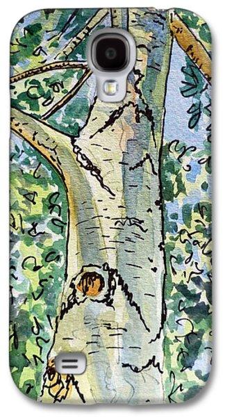 Birch Tree Sketchbook Project Down My Street Galaxy S4 Case by Irina Sztukowski