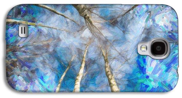 Birch Trees Galaxy S4 Case by Asar Studios