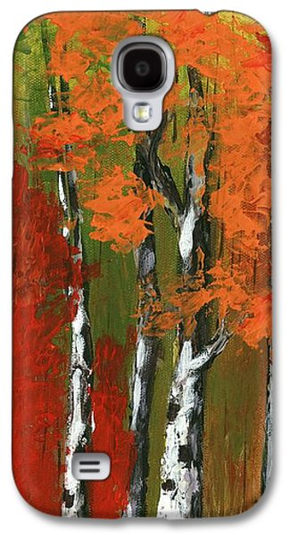 Birch Trees In An Autumn Forest Galaxy S4 Case by Anastasiya Malakhova