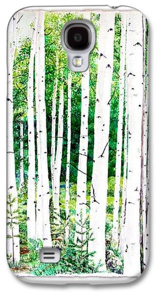 Birch Trees Galaxy S4 Case by Jennifer Apffel