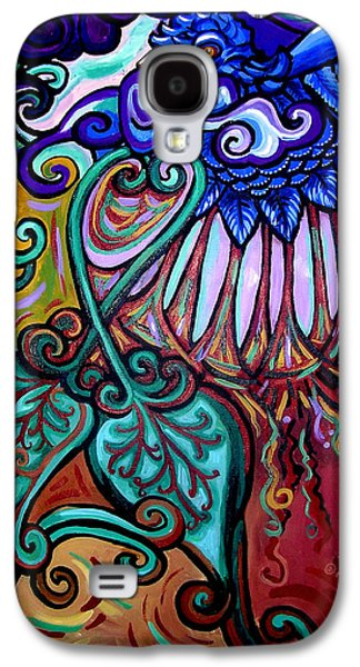 Surrealistic Paintings Galaxy S4 Cases - Bird Heart III Galaxy S4 Case by Genevieve Esson