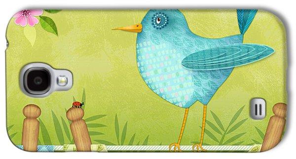 Bird On Clothesline Galaxy S4 Case by Valerie Drake Lesiak