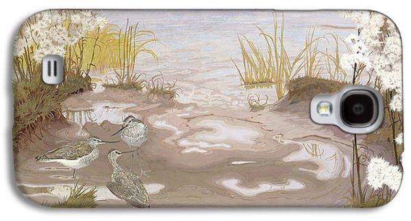 Bird On The Mud Flats Of The Elbe Galaxy S4 Case by Friedrich Lissmann