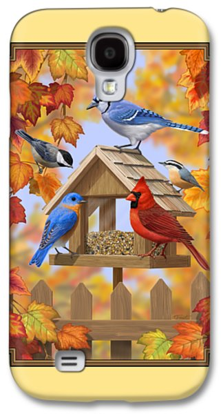 Bird Painting - Autumn Aquaintances Galaxy S4 Case by Crista Forest