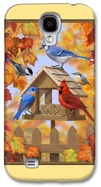 Bird Painting - Autumn Aquaintances Galaxy S4 Case