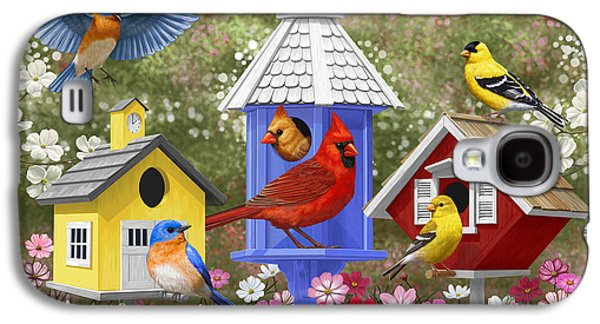 Bird Painting - Primary Colors Galaxy S4 Case by Crista Forest