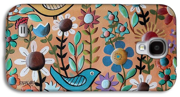 Birds And Flowers 1 Galaxy S4 Case by Karla Gerard