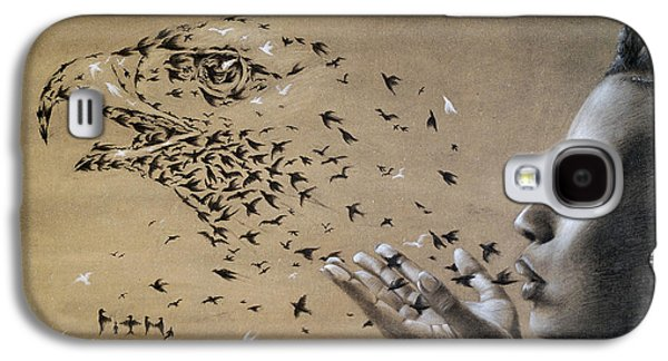 Birds Of Poetry  Galaxy S4 Case by Fithi Abraham