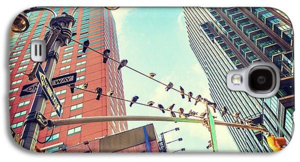 Birds In New York City Galaxy S4 Case