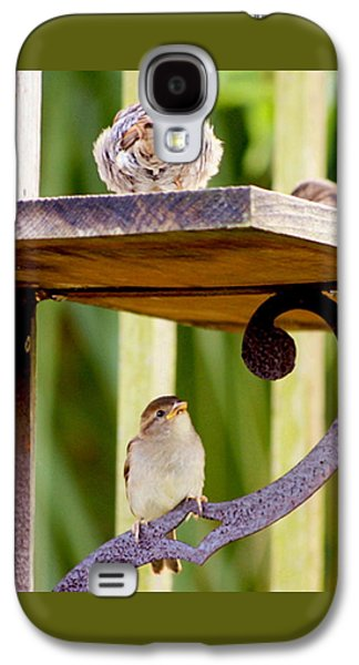 Birds On The Feeder Galaxy S4 Case by W Gilroy