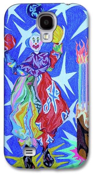 Outer Space Pastels Galaxy S4 Cases - Birthday Clown Galaxy S4 Case by Robert  SORENSEN