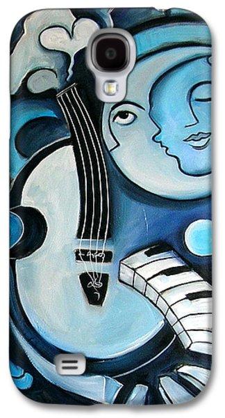 Black And Bleu Galaxy S4 Case by Valerie Vescovi