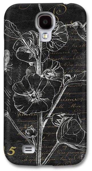Black And Gold Hummingbirds 1 Galaxy S4 Case by Debbie DeWitt
