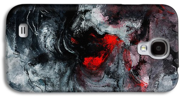 Black And Red Abstract Painting  Galaxy S4 Case by Ayse Deniz