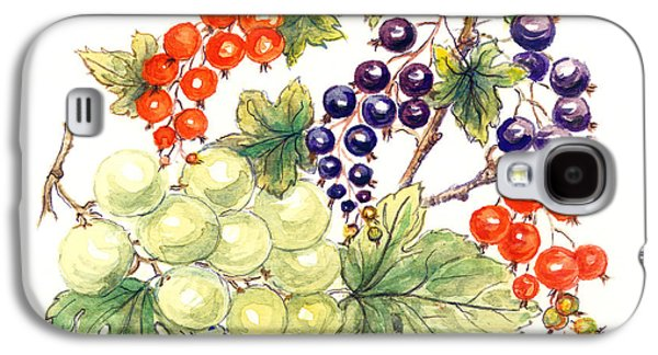 Black And Red Currants With Green Grapes Galaxy S4 Case