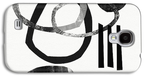 Black And White- Abstract Art Galaxy S4 Case by Linda Woods