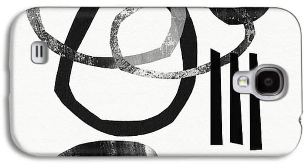 Black And White- Abstract Art Galaxy S4 Case