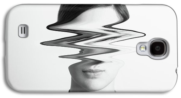 Black And White Abstract Woman Portrait Of Restlessness Concept Galaxy S4 Case by Radu Bercan