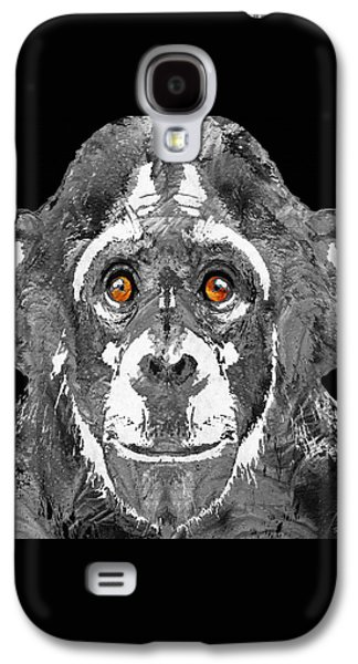 Black And White Art - Monkey Business 2 - By Sharon Cummings Galaxy S4 Case by Sharon Cummings
