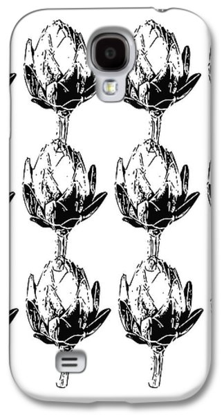 Black And White Artichokes- Art By Linda Woods Galaxy S4 Case by Linda Woods
