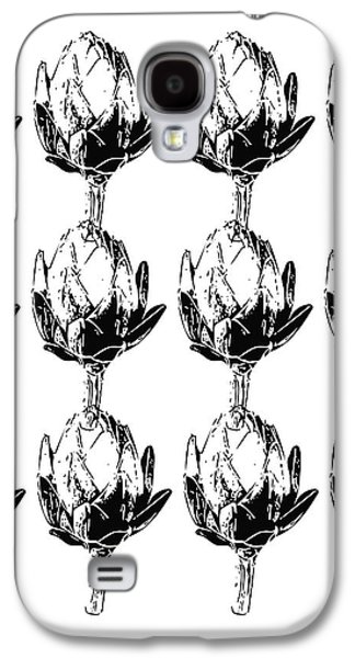 Black And White Artichokes- Art By Linda Woods Galaxy S4 Case
