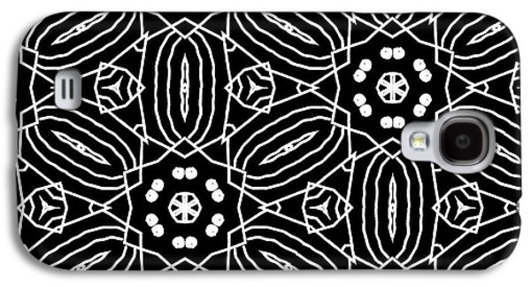 Black And White Boho Pattern 2- Art By Linda Woods Galaxy S4 Case