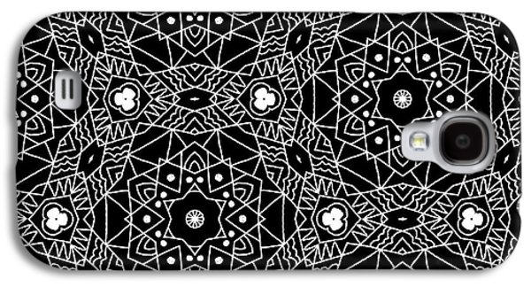 Black And White Boho Pattern 3- Art By Linda Woods Galaxy S4 Case