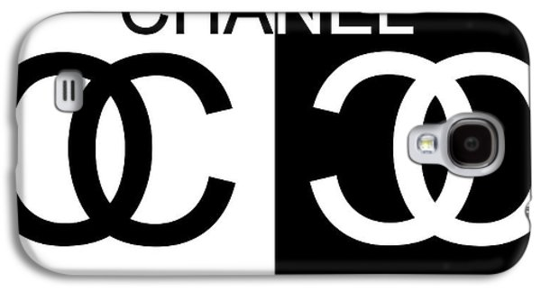 Black And White Chanel Galaxy S4 Case