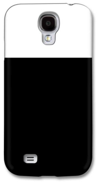 Black And White Colorblock  Galaxy S4 Case