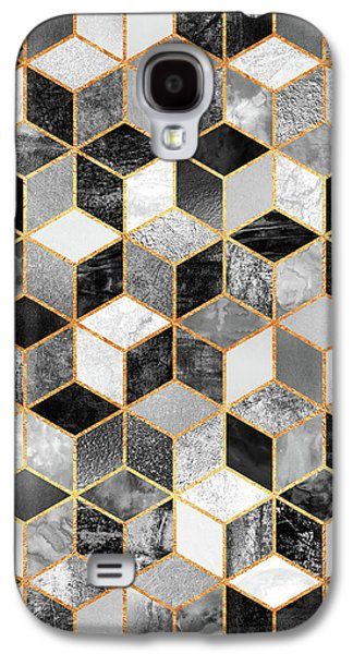 Black And White Cubes Galaxy S4 Case by Elisabeth Fredriksson