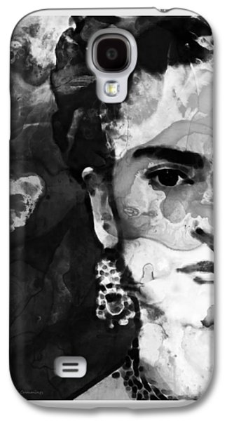 Black And White Frida Kahlo By Sharon Cummings Galaxy S4 Case by Sharon Cummings