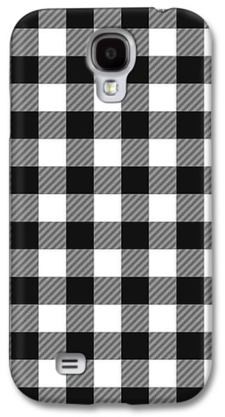 Black And White Gingham Small- Art By Linda Woods Galaxy S4 Case